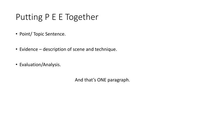 Putting P E