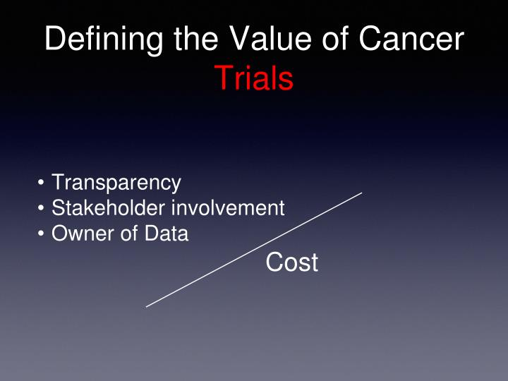 Defining the Value of Cancer