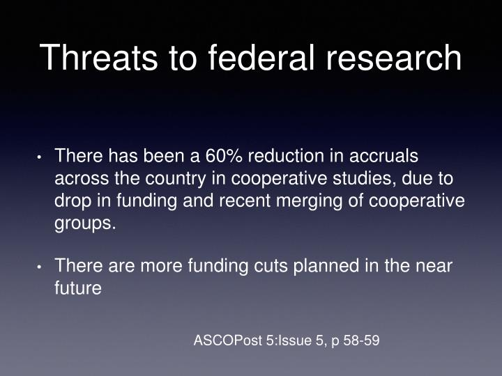 Threats to federal research