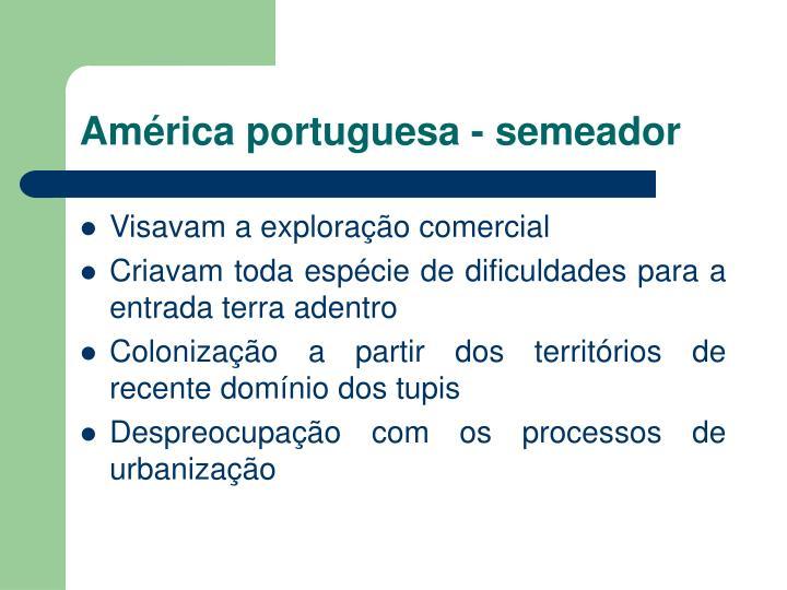 América portuguesa - semeador
