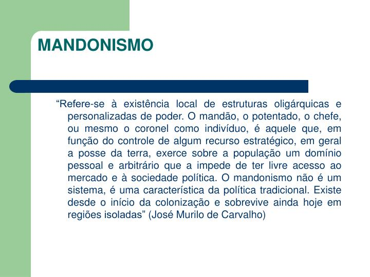 MANDONISMO