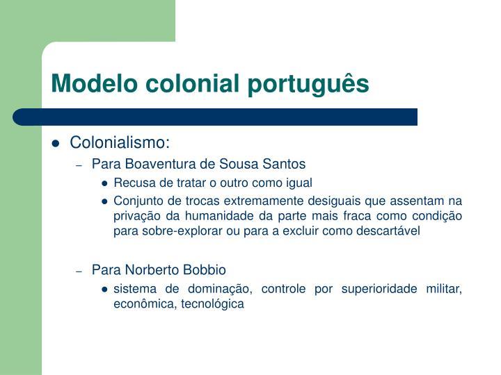 Modelo colonial português