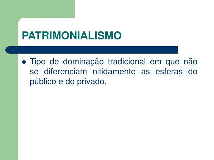 PATRIMONIALISMO
