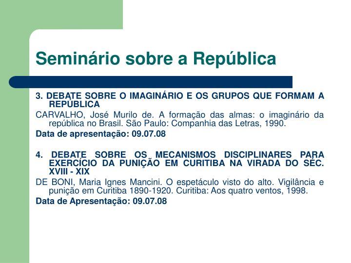 Seminário sobre a República