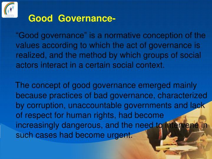Good  Governance-