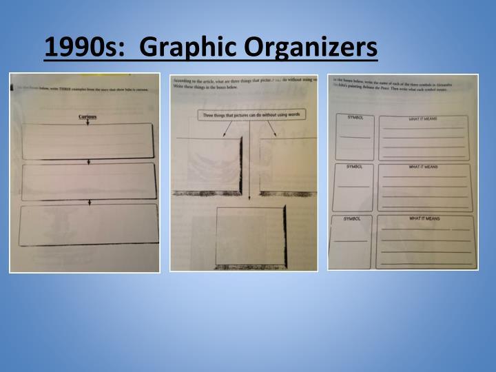 1990s:  Graphic Organizers