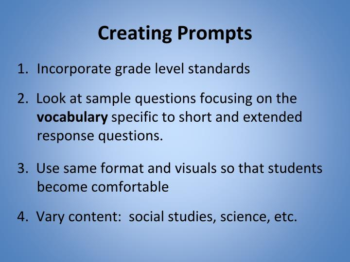 Creating Prompts