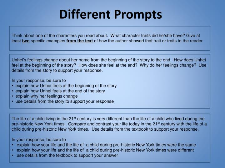 Different Prompts
