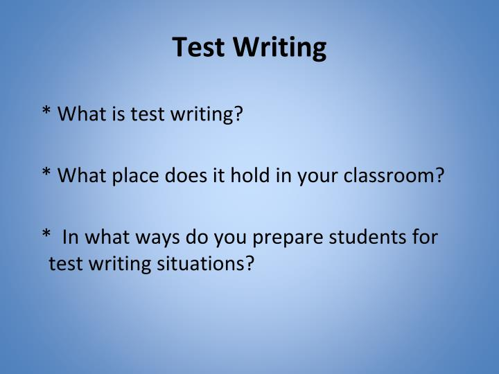 Test writing