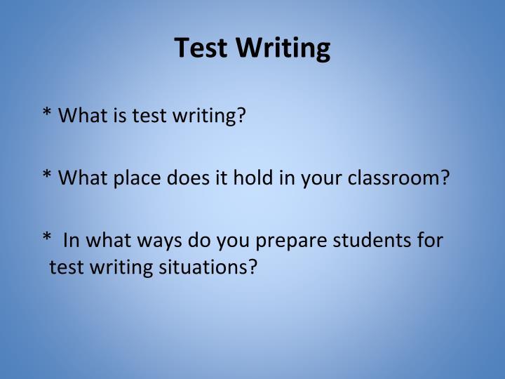 Test Writing