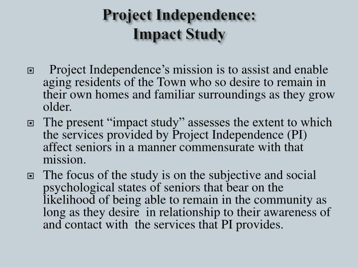 Project Independence: