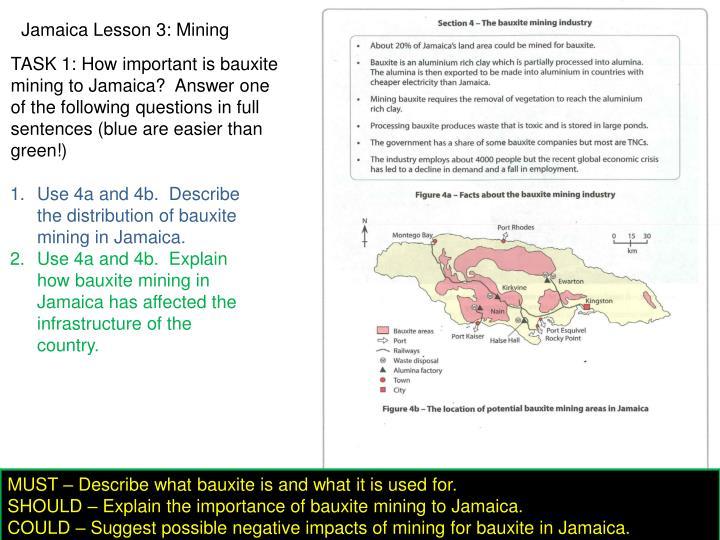Jamaica Lesson 3: Mining