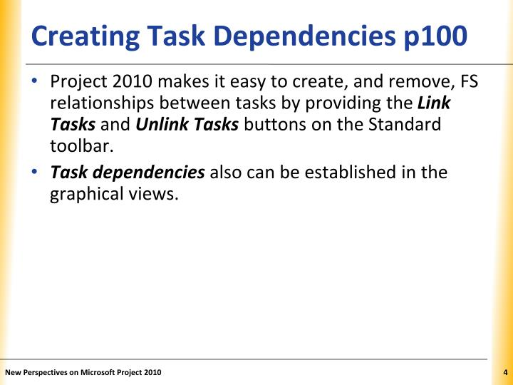 Creating Task Dependencies p100