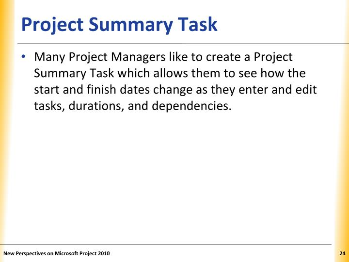 Project Summary Task