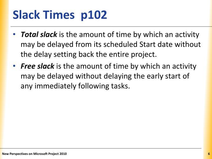 Slack Times  p102