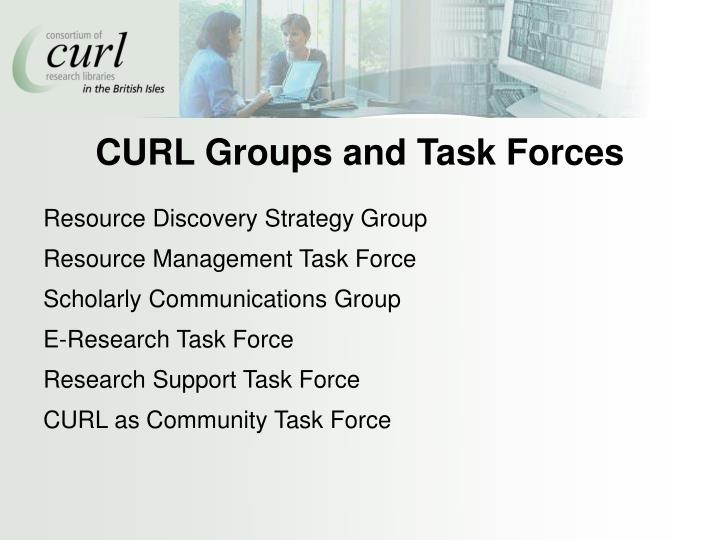 CURL Groups and Task Forces