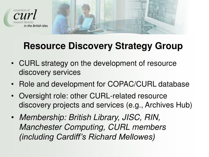 Resource Discovery Strategy Group