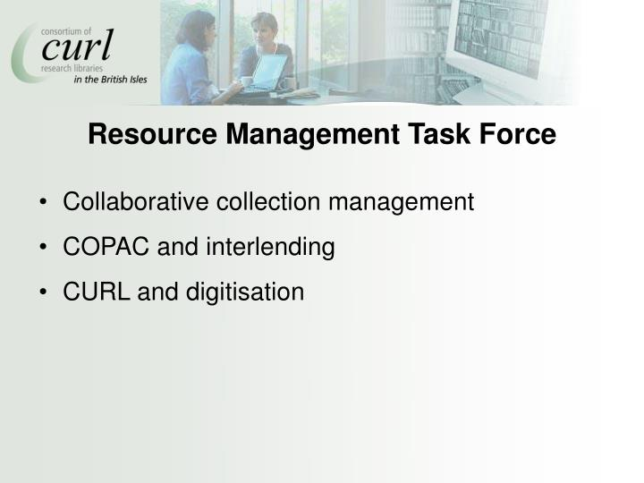 Resource Management Task Force