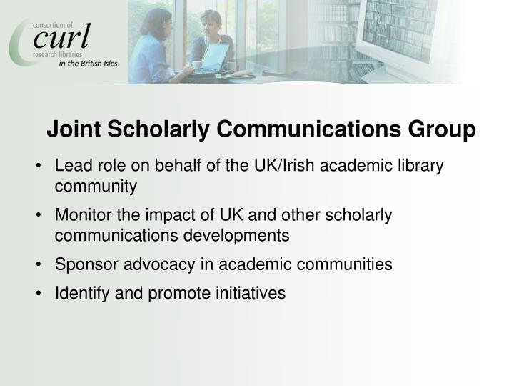 Joint Scholarly Communications Group