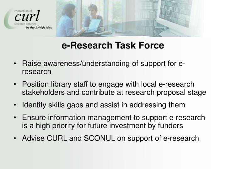 e-Research Task Force