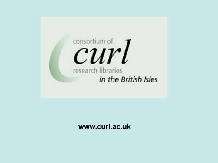 www.curl.ac.uk