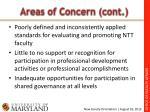 areas of concern cont