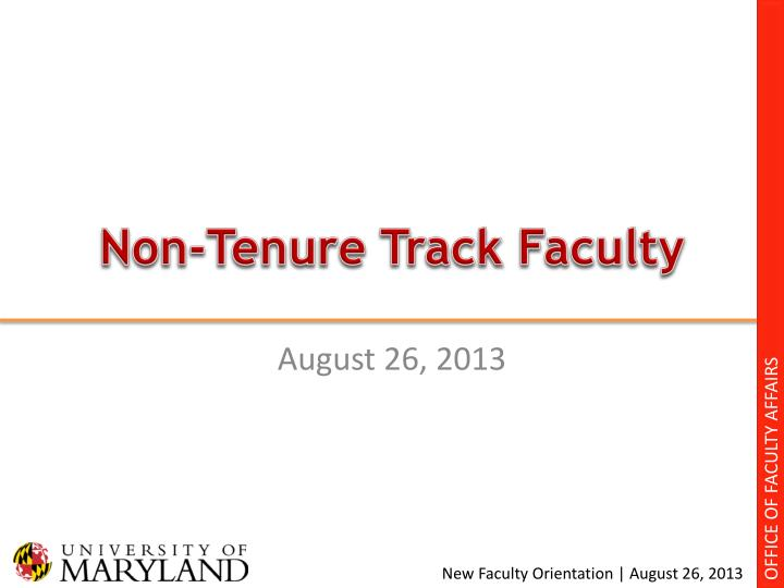 Non tenure track faculty