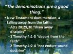 the denominations are a good thing2