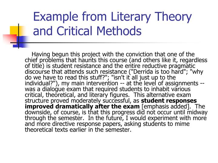 Example from Literary Theory