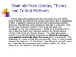 example from literary theory and critical methods1