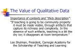 the value of qualitative data