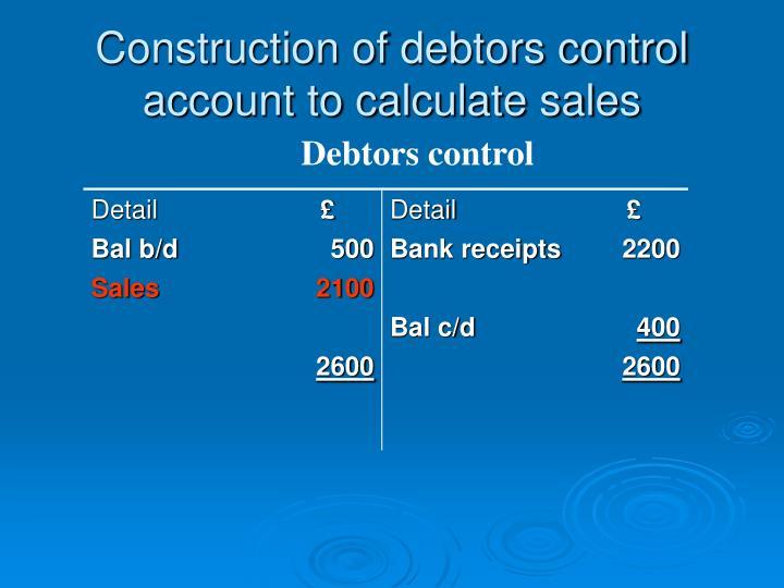 how to prepare debtors account