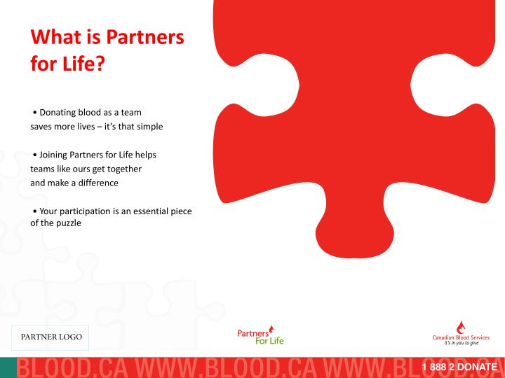 What is partners for life