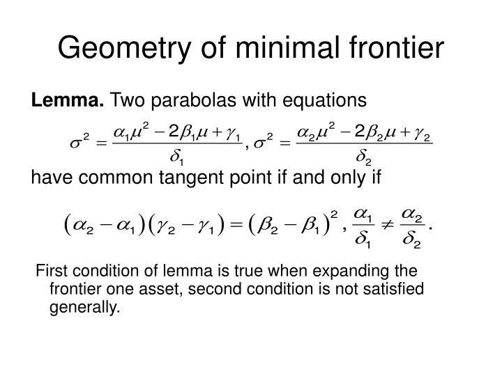 Geometry of minimal frontier