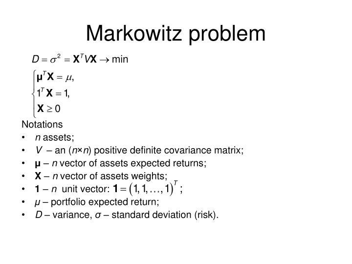 Markowitz problem