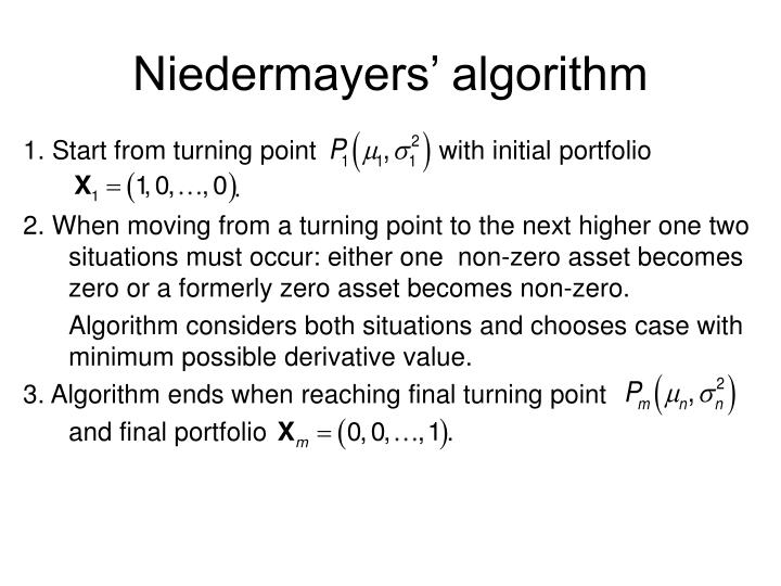 Niedermayers' algorithm