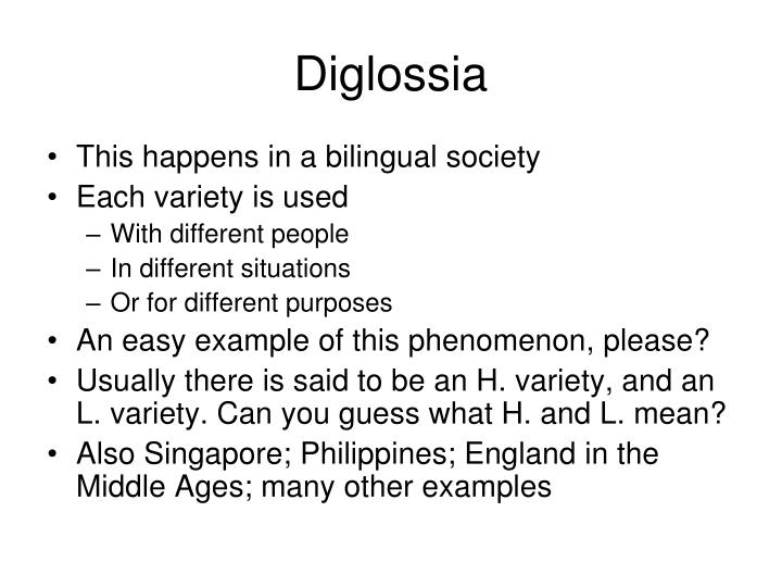 Diglossia