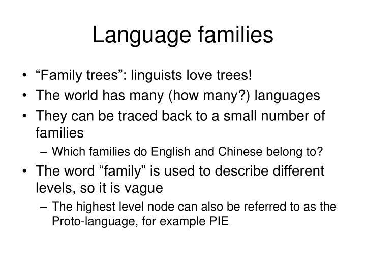 Language families