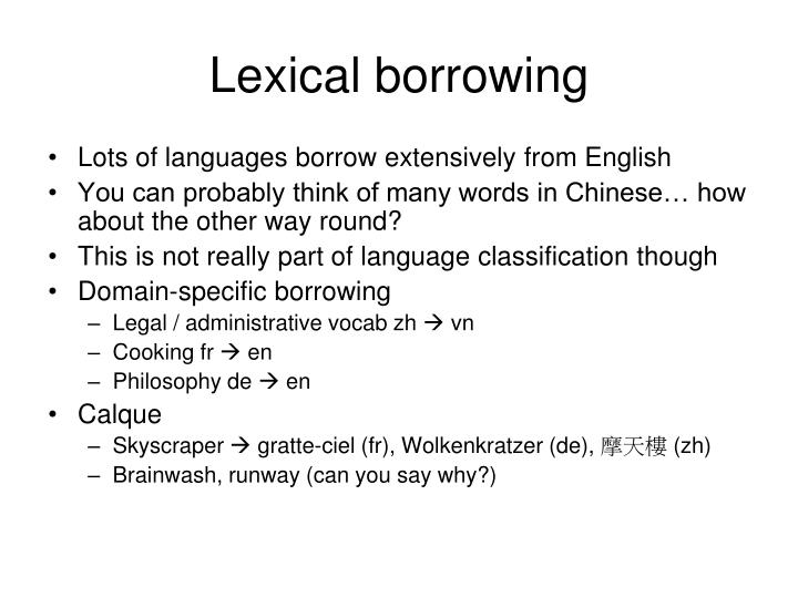 Lexical borrowing