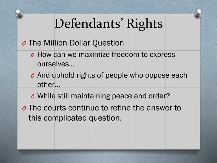 Defendants' Rights