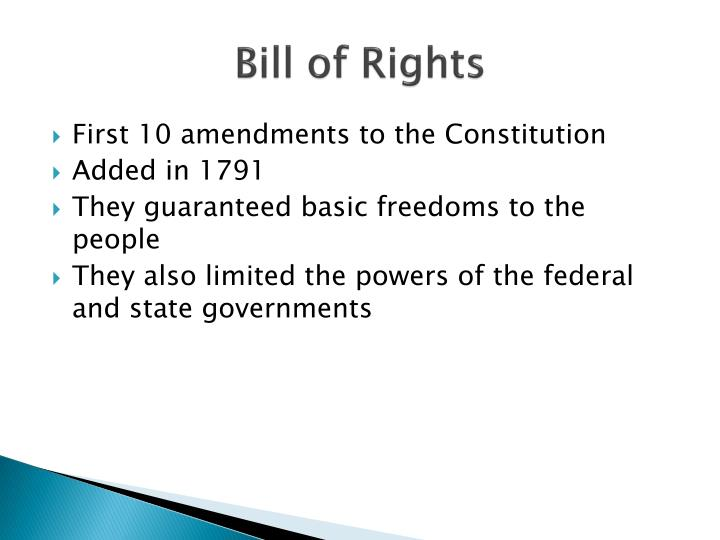 Bill of rights1