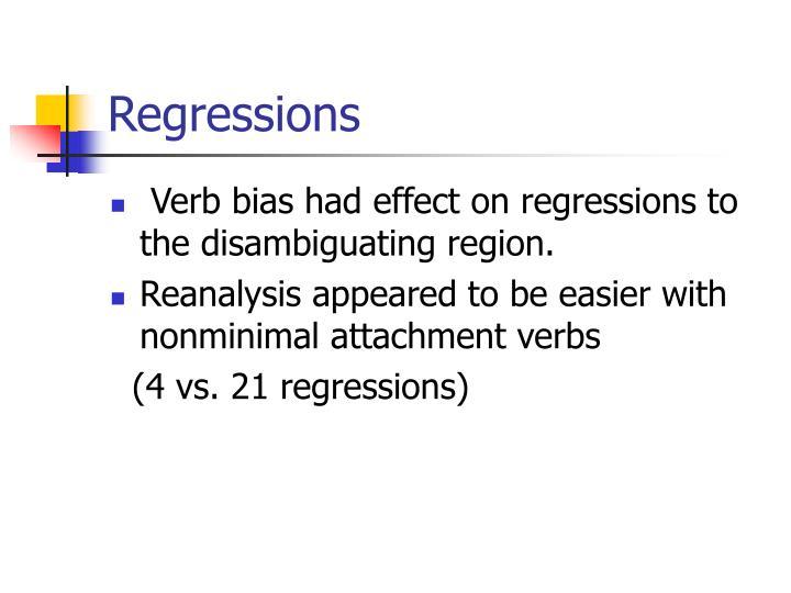 Regressions