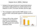 hasson et al 2004 science