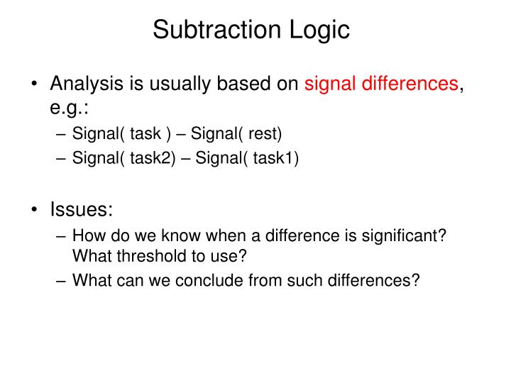 Subtraction Logic