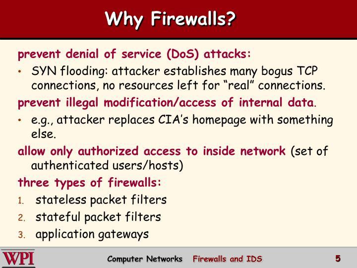 Why Firewalls?