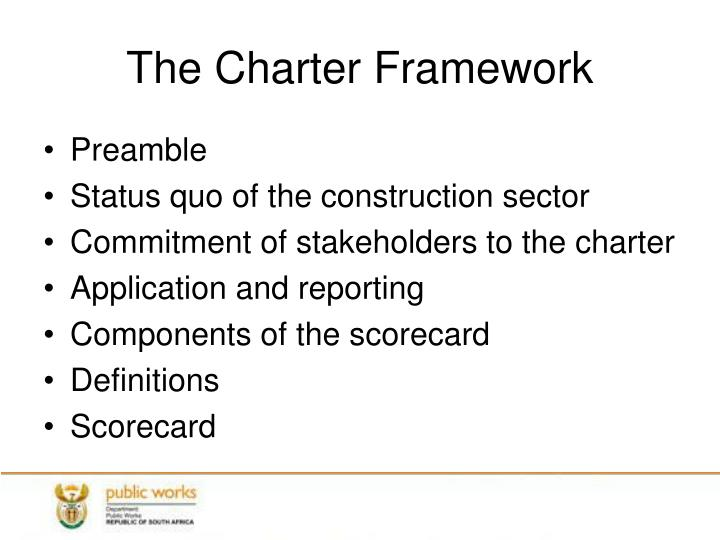 The Charter Framework