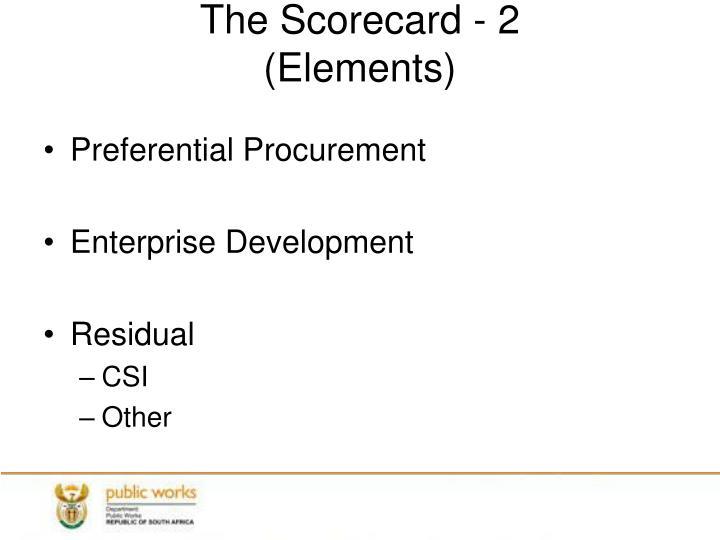The Scorecard - 2