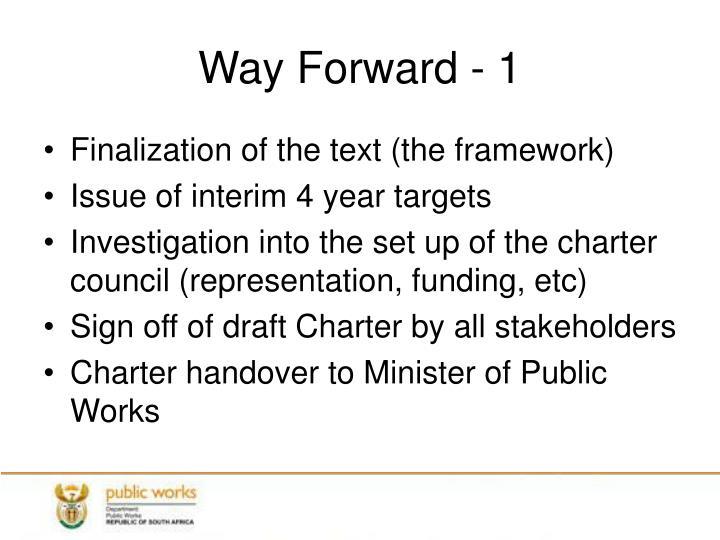 Way Forward - 1