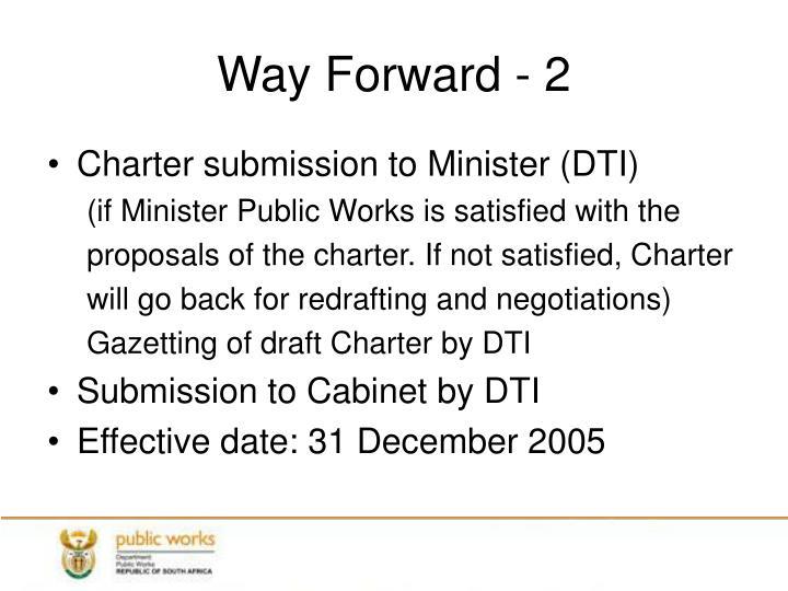 Way Forward - 2