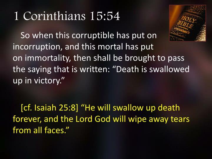 1 Corinthians 15:54